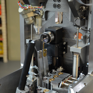 "view of a MD3 diffractometer with a ""down configuration"" equipped with a Mini-Kappa Goniometer Head"